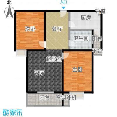 水韵江南98.00㎡2室2厅1卫