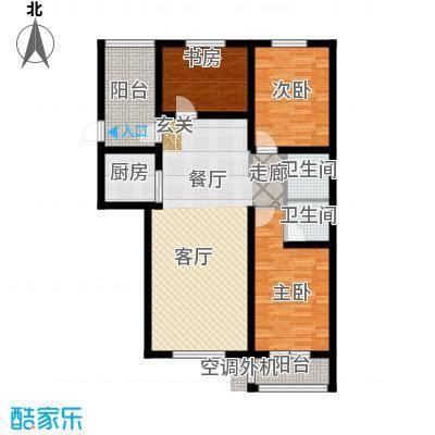 海韵星城户型3室1厅2卫1厨