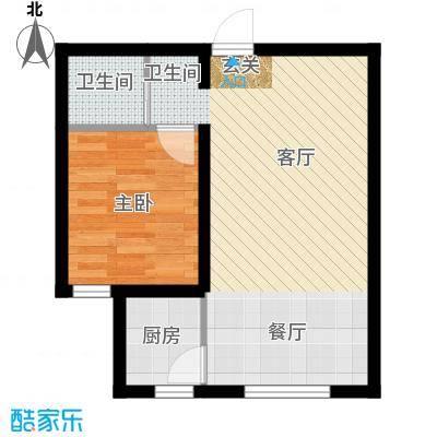 海韵星城户型1室1厅1卫1厨
