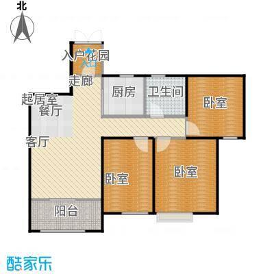 首开太湖一号95.00㎡B户型 95平米户型3室2厅1卫