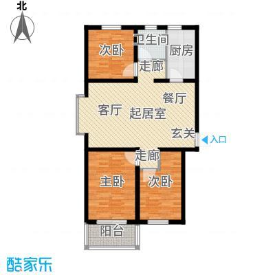 海韵馨园92.81㎡1#D户型3室1厅1卫