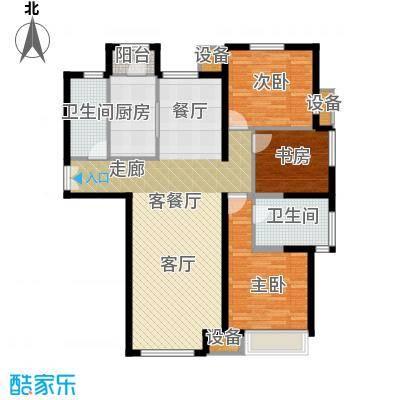 泰达城河与海户型3室1厅2卫1厨