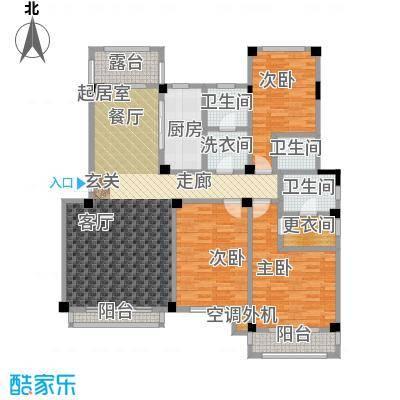 锦尚天华户型3室3卫1厨