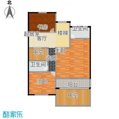 荆溪人家156.24㎡联排南入B二楼户型3室2卫