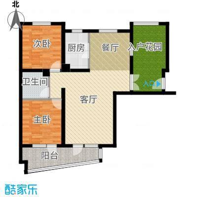 山海同湾115.00㎡一花厅户型2室3厅1卫