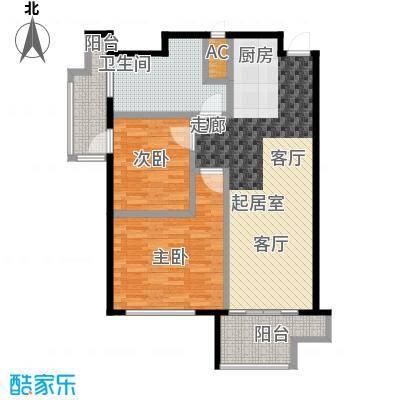 蓝海国际公寓蓝海国际公寓E户型:91.59平米户型2室2厅1卫