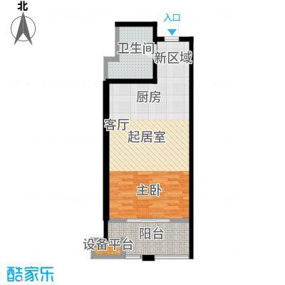 蓝海国际公寓45.52㎡蓝海国际公寓B户型:45.52平米户型1室1厅1卫