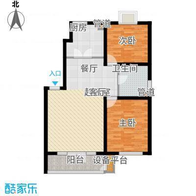 虹溪公寓88.00㎡板楼C户型