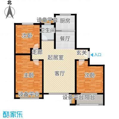 明佳花园120C户型3室2厅1卫