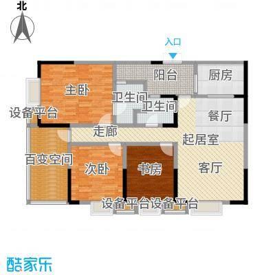 东湖尚�户型3室2卫1厨