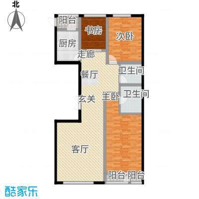 水乡9号161.30㎡9号楼4-18层1门02户型3室2厅2卫