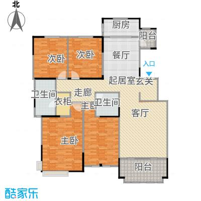 融侨观邸4号楼3层户型3室2厅2卫
