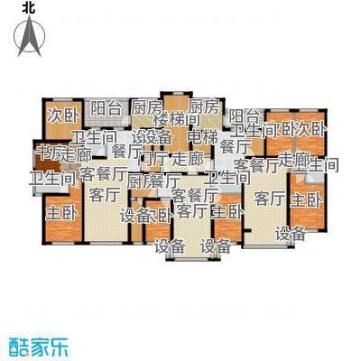 金港湾二期户型8室3厅5卫1厨