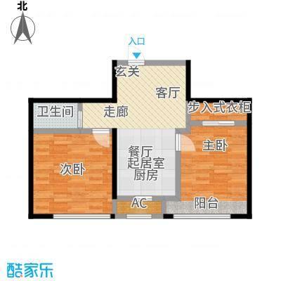 大树花园57.00㎡面积约57平米户型2室1厅1卫cc