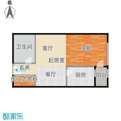地铁新都汇63.00㎡C户型 一室一厅一卫户型1室1厅1卫