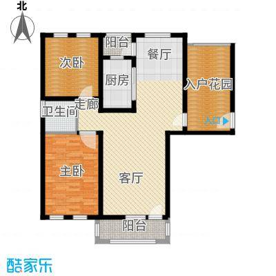 东方格兰维亚105.48㎡两室两厅一卫户型2室2厅1卫