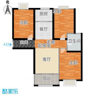 金屋秦皇半岛108.77㎡8区11楼C户型(28F)户型3室2厅1卫