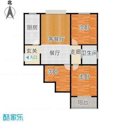 菏泽锦绣中华户型3室1厅1卫1厨