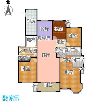 凡尔赛颐阁二期169.31㎡E户型4室2厅2卫