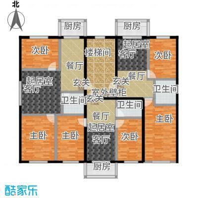 江南府邸户型6室3卫3厨