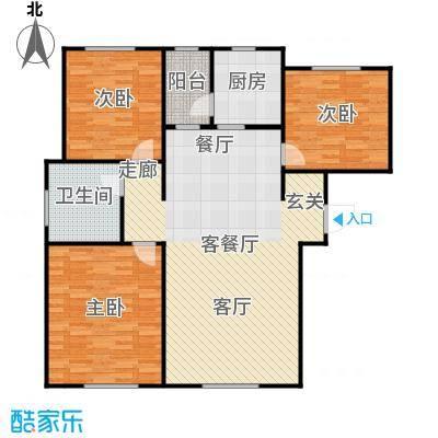 牡丹城户型3室1厅1卫1厨