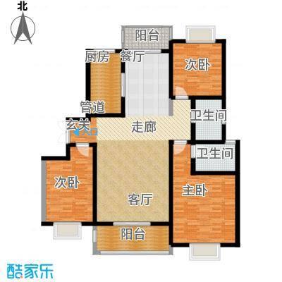 天业盛世龙城139.00㎡三室两厅两卫户型3室2厅2卫