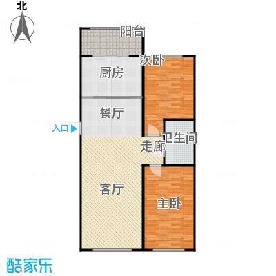 新阳绿洲春城户型2室1厅1卫1厨