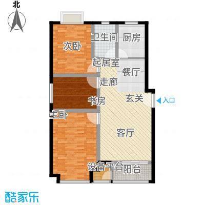 上林风景110.90㎡G1户型三室两厅一卫户型3室2厅1卫