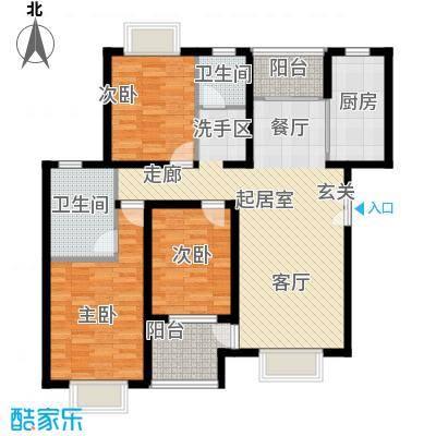 松石国际城127.22㎡D1户型3室2厅2卫