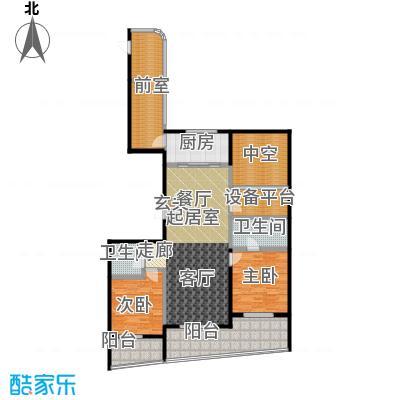 兴龙 香玺海138.00㎡5号楼D户型2室2厅2卫户型2室2厅2卫