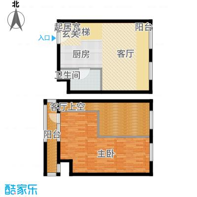 中海御湖翰苑E 66平米户型
