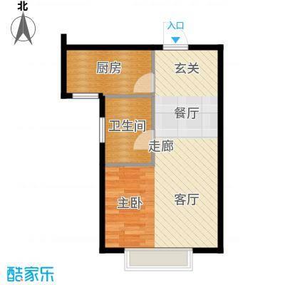 浩正�林湾47.30㎡一室一厅一卫户型1室1厅1卫