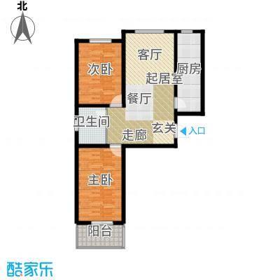 尧和宁苑三期89.80㎡尧和宁苑三期两室两厅一卫户型2室2厅1卫