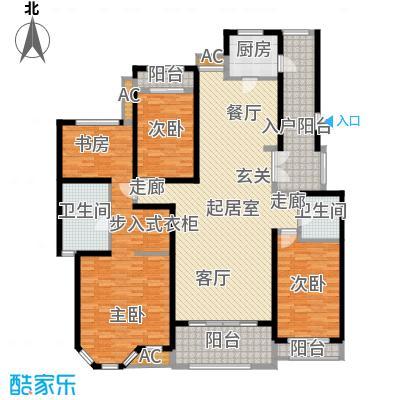 曦城花语182.00㎡电梯洋房户型4室2厅2卫QQ