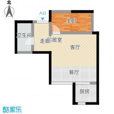 汉庭香榭户型1室1卫1厨
