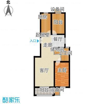 百合小筑104.03㎡两室两厅一卫104.03㎡N户型2室2厅1卫