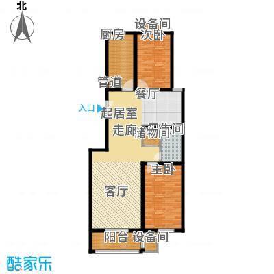 百合小筑102.50㎡两室两厅一卫102.5㎡C户型2室2厅1卫