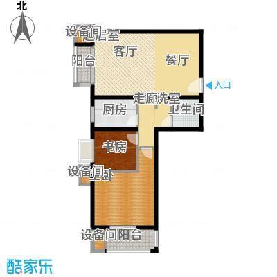 百合小筑95.22㎡两室两厅一卫95.22㎡G户型2室2厅1卫