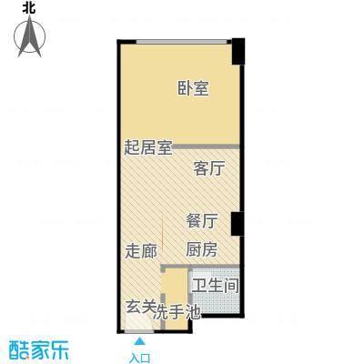 百悦 梧桐中心51.92㎡A1户型