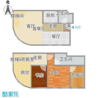 TOUCH悦城76.00㎡A户型设计2户型2室2厅2卫
