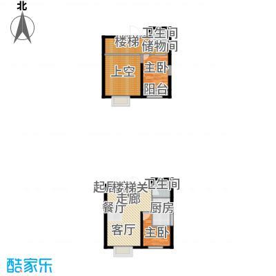 首创炫社区106.00㎡A02户型2室2厅2卫