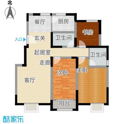 首创炫社区127.00㎡3#、5#楼 G户型3室2厅2卫