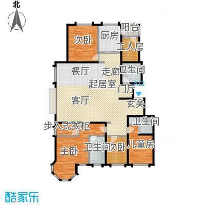玖郡206.13㎡I户型五室两厅三卫户型5室2厅3卫
