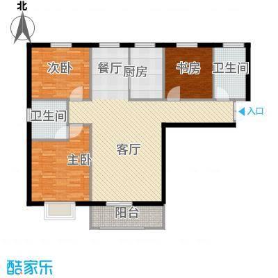 滨海国际126.02㎡F户型3室2厅2卫