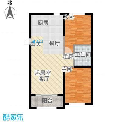 紫金湾92.26㎡G户型2室2厅1卫