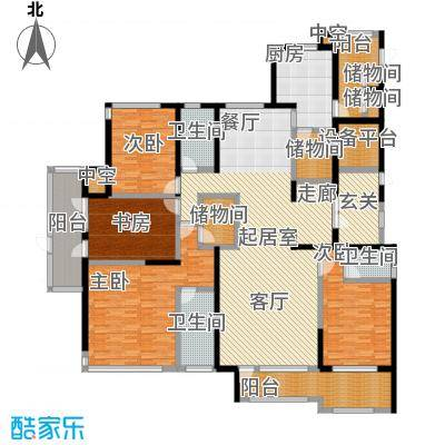 君悦・东湖公馆-T户型4室3卫1厨