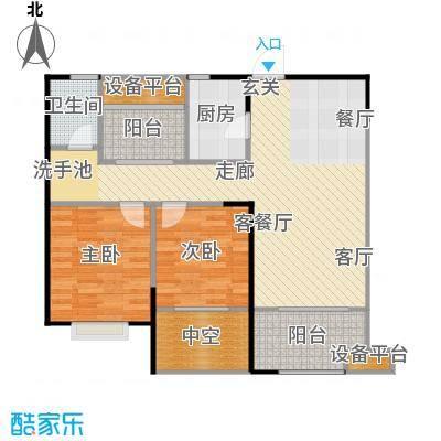 宏江中央广场89.63㎡A4户型2室2厅1卫
