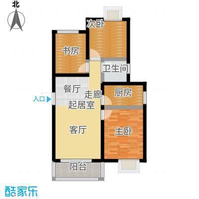 阳光北京城户型3室1卫1厨