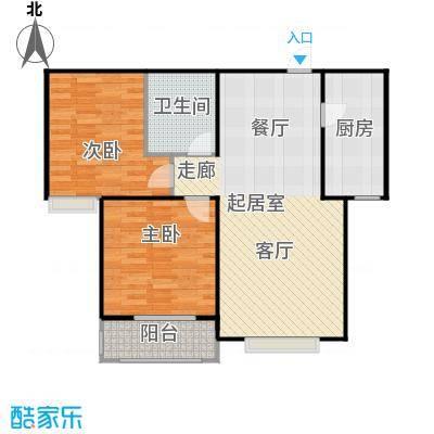 侯河铭品尚江南88.82㎡1、7、8号楼E户型两室两厅一卫户型2室2厅1卫