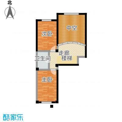 哈东上城90.00㎡4-8-11-12-13#B复式户型上层2室1厅1卫户型2室1厅1卫
